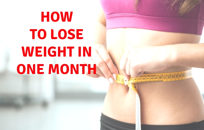 easy way to lose weight in one month