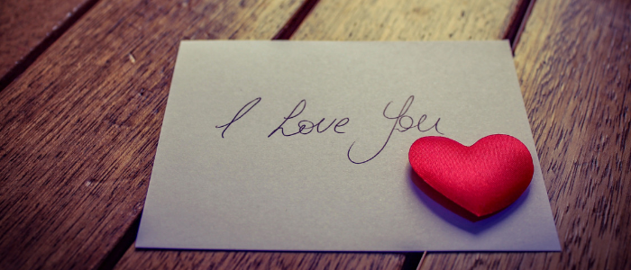 Romantic ways to say I love you - love letter