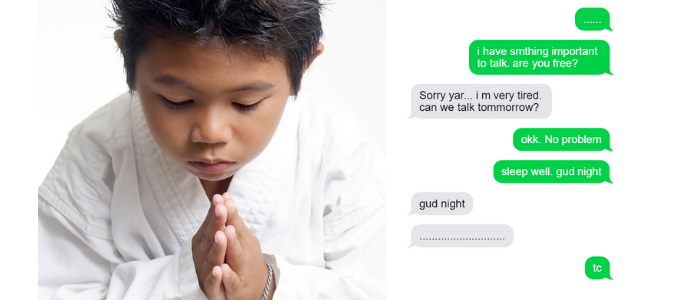 How to impress your crush girl over text - Be respectful