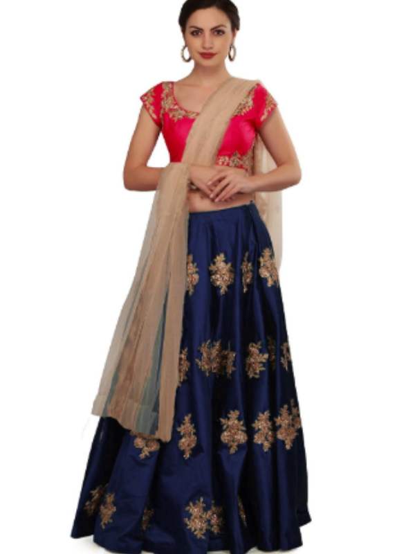 Top 10 Lahenga Choli Evergreen Design Trends - Hues of pinks and blues 1