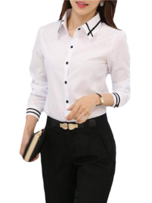 Top 10 Styles Tips for small busted girls - Open button white shirt 2