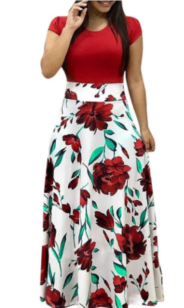 short sleeve maxi dress 1