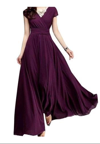 v neck long maxi dress 1