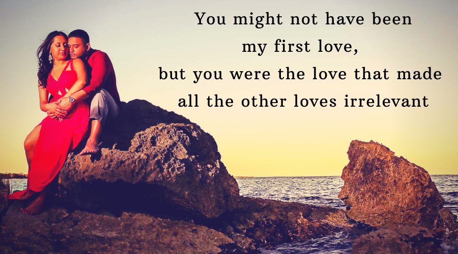 My first quotes your love 77 Perfect