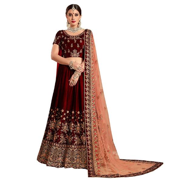 Net lehenga choli for women for bride