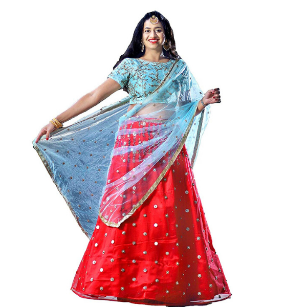 Zopdeal Bridal Studio Net silk Bridal Lehenga for Women