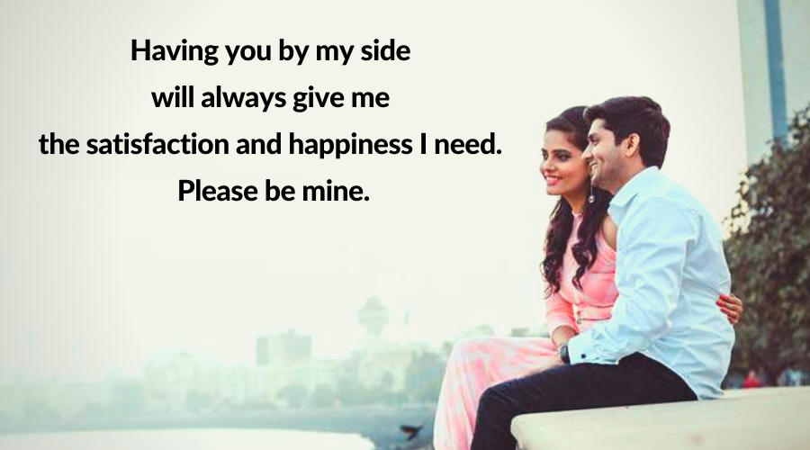 Be Mine Quotes-Having you by my side will.