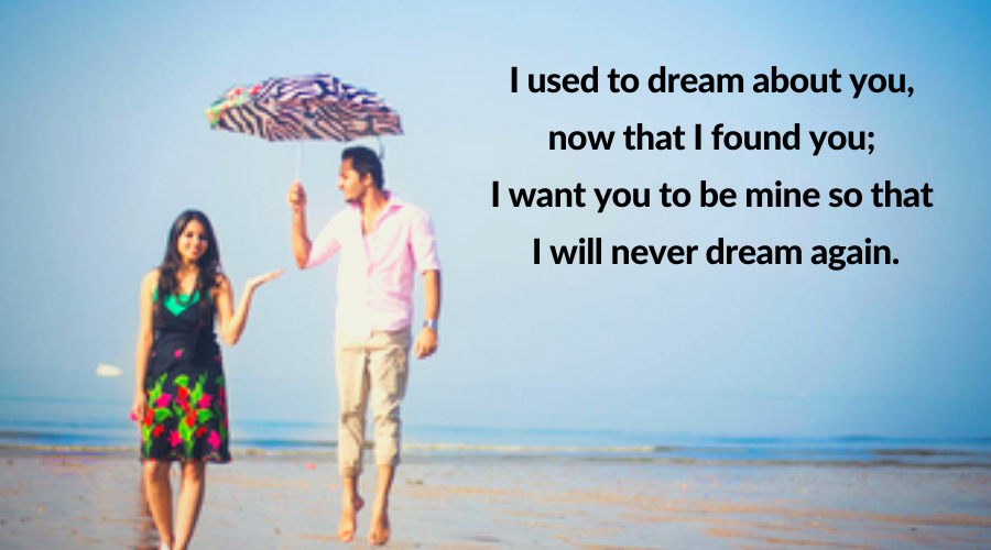 Be Mine Quotes-I used to dream about you