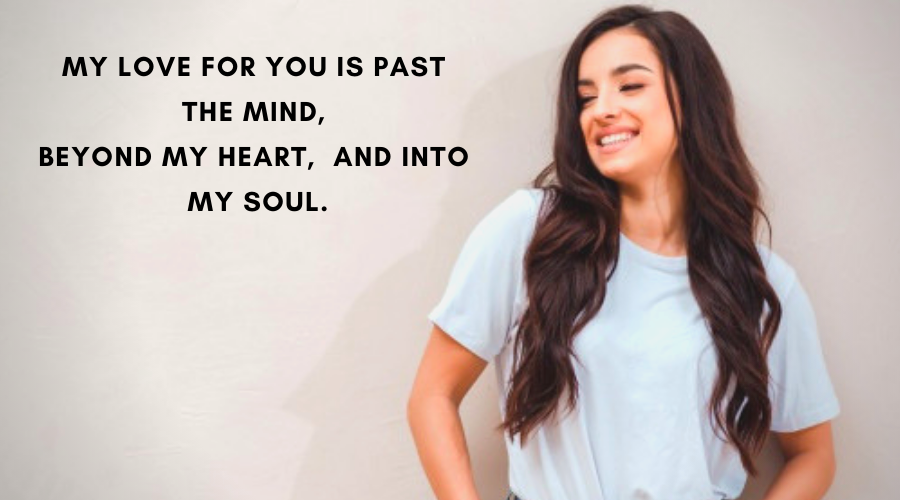 Cute Love Quotes For Her-My love for you is past the mind