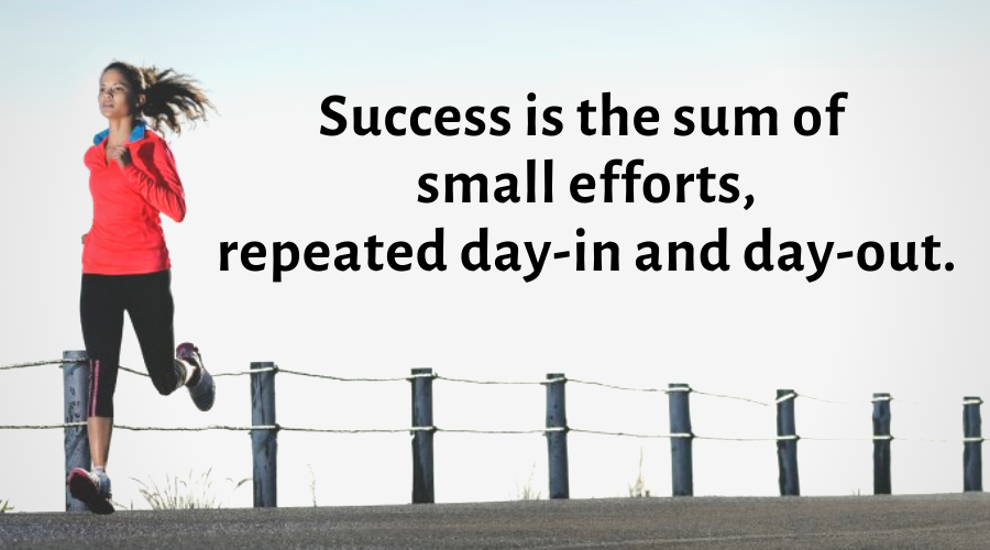 Motivational Quotes-Success is the sum of small efforts