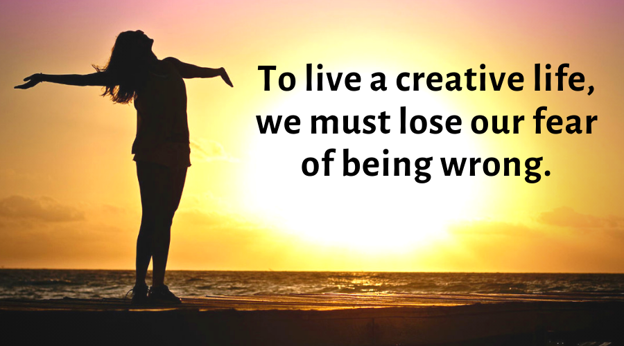 Motivational Quotes-To live a creative life
