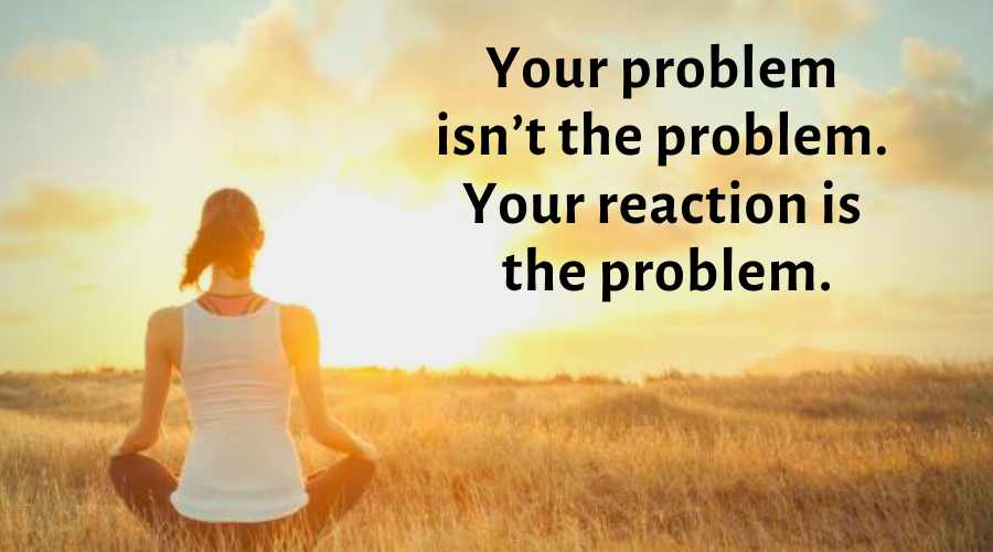 Motivational Quotes-Your problem isn't the problem