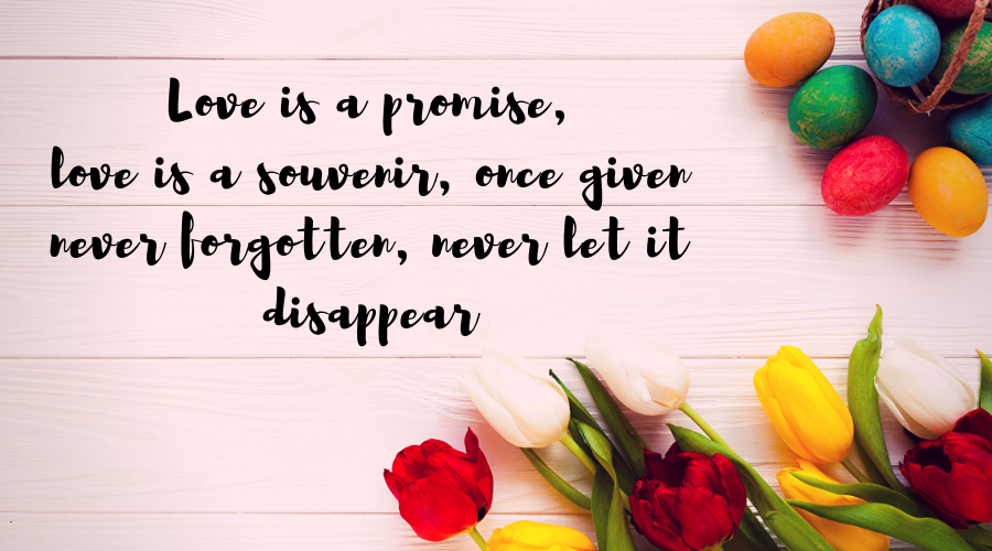 Love Quotes for Him and Her-Love is a promise,love is a souvenir, once given never forgotten, never let it disappear
