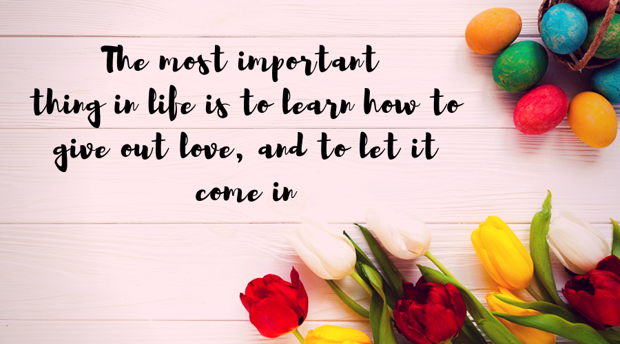 Love Quotes for Him and Her-The most important thing in life is to learn how to give out love, and to let it come in